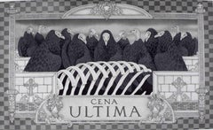 Cena Ultima (Guinea Vultures stand for apostles in this version of Last Supper)