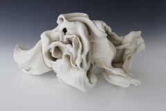 Twist 3, Abstract porcelain sculpture
