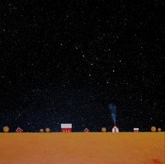 Under the Big Dipper IV, Painting, Acrylic on Canvas