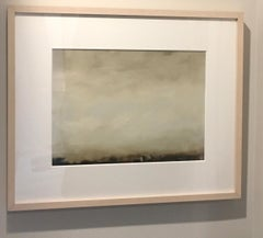 Cirrus I, Abstracted landscape, Hudson River School, Oil on board, framed