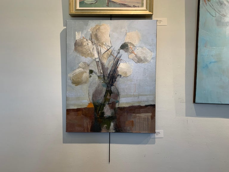 Dillworth Hydrangeas by Sharon Hockfield, Contemporary Floral Still Life For Sale 1