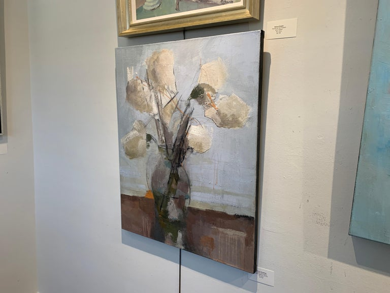 Dillworth Hydrangeas by Sharon Hockfield, Contemporary Floral Still Life For Sale 5