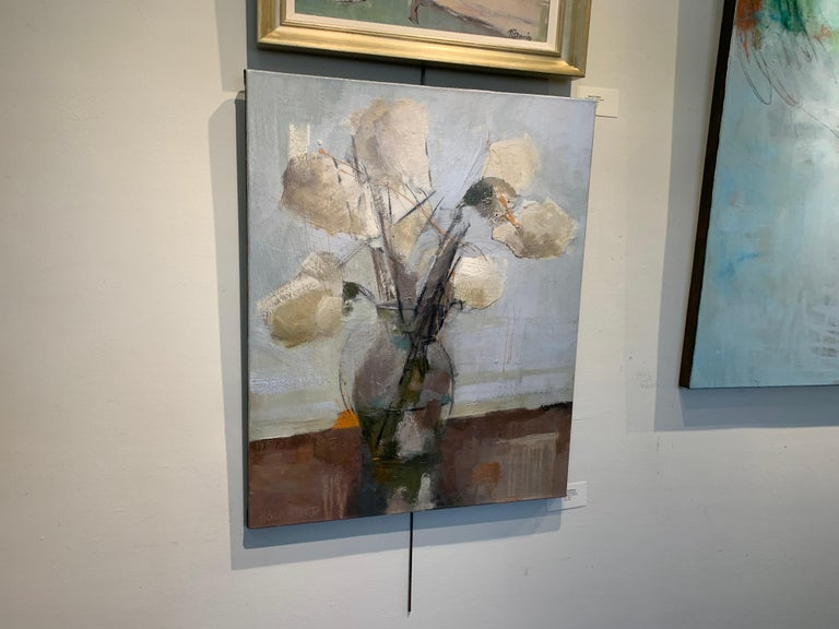 Dillworth Hydrangeas by Sharon Hockfield, Contemporary Floral Still Life For Sale 6