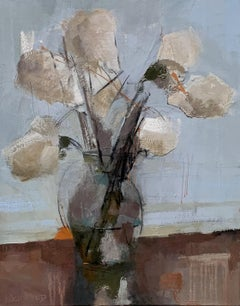 Dillworth Hydrangeas by Sharon Hockfield, Contemporary Floral Still Life