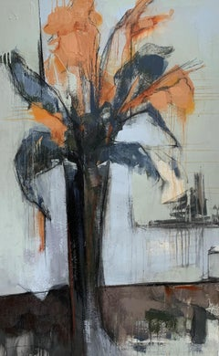Stately Cannas by Sharon Hockfield, Contemporary Floral Still Life