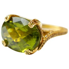 Sharon Khazzam 12.20 Carat Peridot and Yellow Sapphire Ring