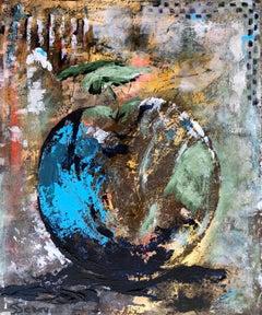 Blue Apple, Original Painting