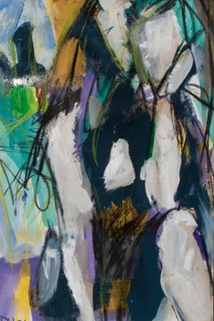 Pensive IV, Painting, Acrylic on Wood Panel