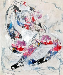 Scarf Dance, Abstract Painting