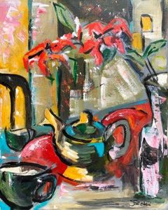 Tea for Two, Abstract Painting