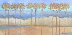 Eleven Trees, Painting, Acrylic on Canvas