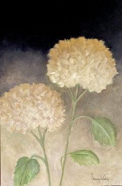 The Secret Life of Hydrangeas #11, Painting, Acrylic on Canvas