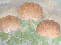 The Secret Life of Hydrangeas #3, Painting, Acrylic on Canvas