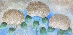 The Secret Life of Hydrangeas #7, Painting, Acrylic on Canvas