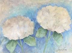 Two Hydrangeas #4, Painting, Acrylic on Canvas