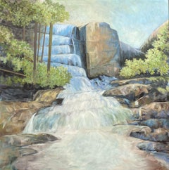 Waterfall, Painting, Acrylic on Canvas