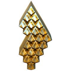 Sharp Diamond Light, Brass Sconce in Diamond and Customizable Configurations