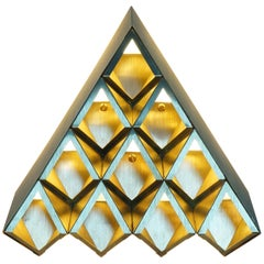 Sharp Diamond Light Brass Sconce in Triangle and Customizable Configurations