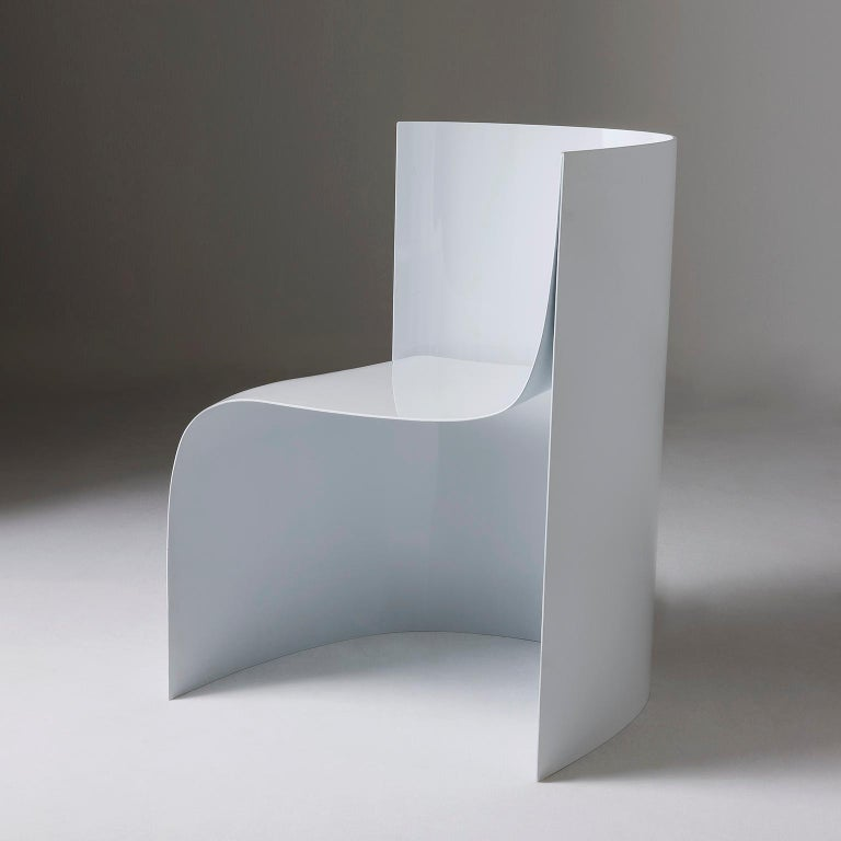 Modern Sharp Lacquered Aluminium Armchair by Sebastiano Bottos, Italia For Sale