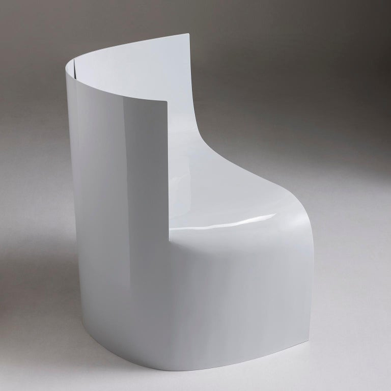 Contemporary Sharp Lacquered Aluminium Armchair by Sebastiano Bottos, Italia For Sale