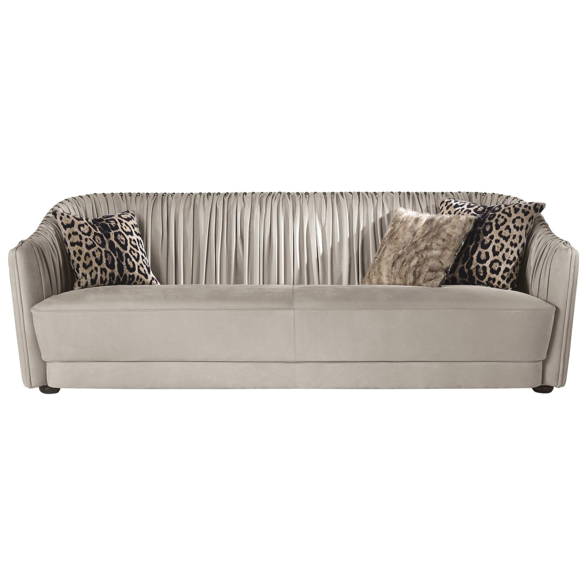 Sharpei 3-Seater Sofa in Leather by Roberto Cavalli Home Interiors