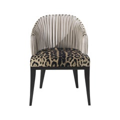 Sharpei Armchair in Fabric and Leather by Roberto Cavalli Home Interiors
