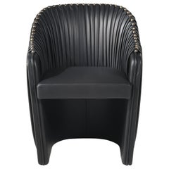 Sharpei Armchair in Leather by Roberto Cavalli