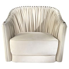 Sharpei Armchair in Light Leather by Roberto Cavalli Home Interiors