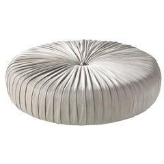 Sharpei Large Pouf in Leather by Roberto Cavalli Home Interiors