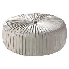 Sharpei Small Pouf in Leather by Roberto Cavalli Home Interiors