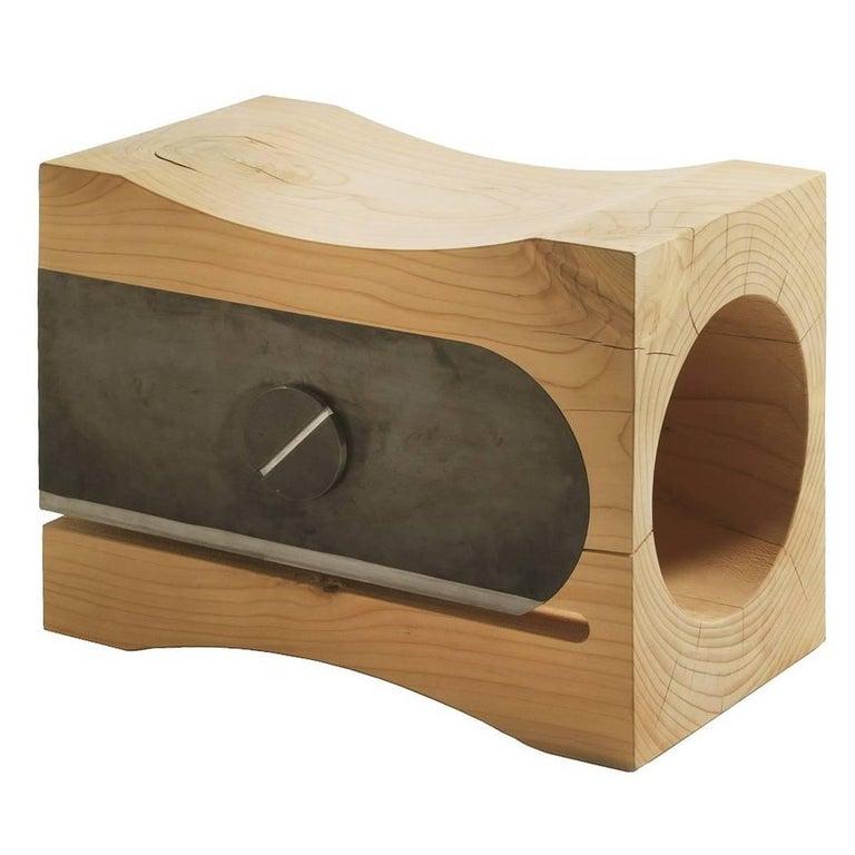 Sharpener Stool in Solid Cedar Wood