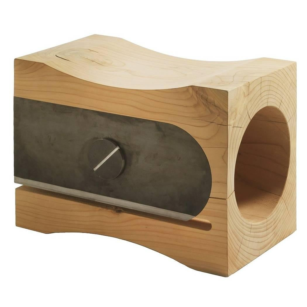 Sharpener Stool In Solid Cedar Wood
