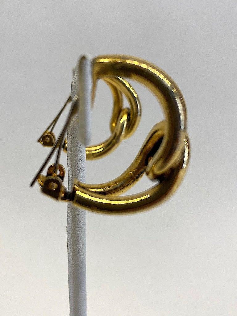Sharra Pagano 1980s Gold Hoop Earrings For Sale 6