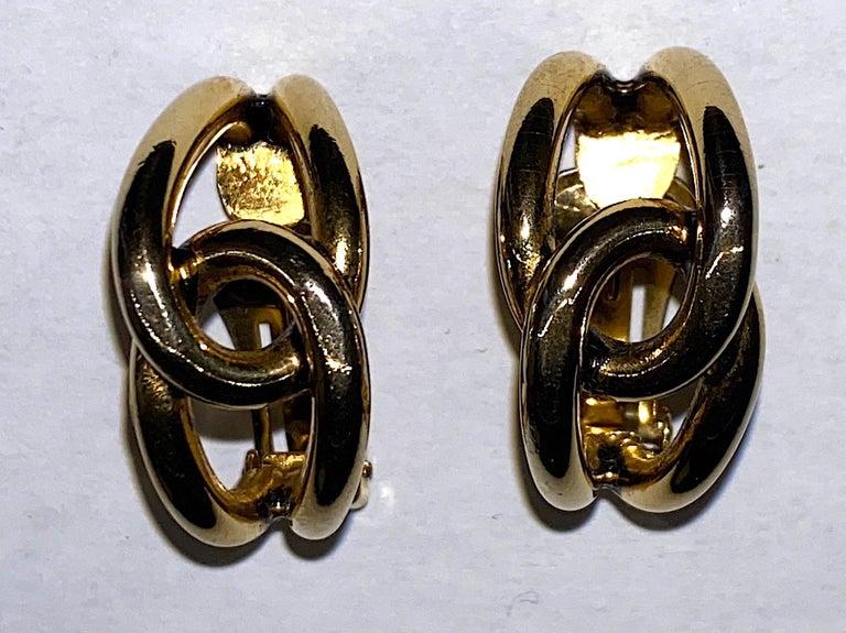 Women's Sharra Pagano 1980s Gold Hoop Earrings For Sale