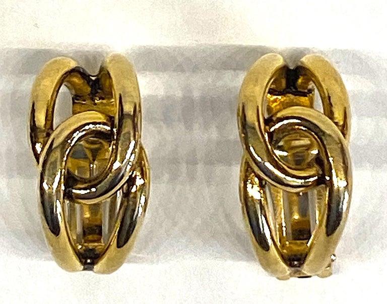 Sharra Pagano 1980s Gold Hoop Earrings For Sale 4