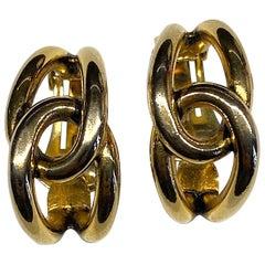 Sharra Pagano 1980s Gold Hoop Earrings