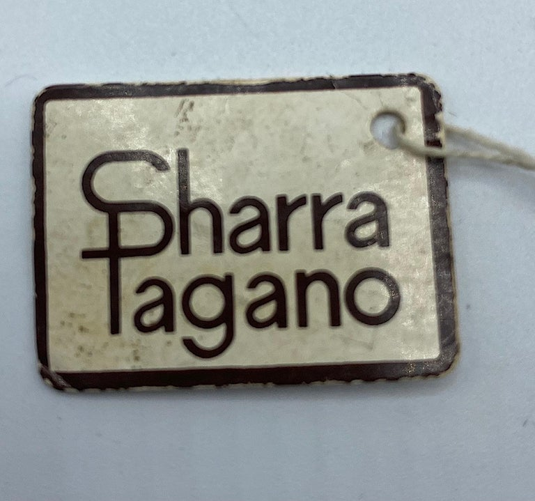 Sharra Pagano, Italy 1980s Gold, Rhinestone & Lucite Pendant Earrings For Sale 5