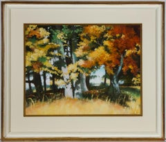 Sharyn Jennings - Signed & Framed Contemporary Oil, Wooded Autumn Landscape