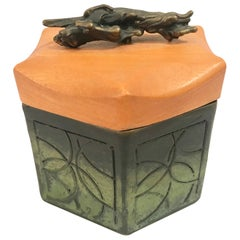 Shatsby Bronze and Wood Lidded Box
