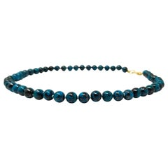 Shattuckite and 18 Karat Beaded Necklace