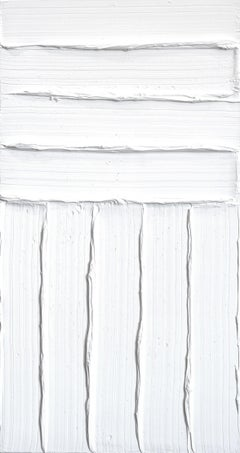 Avec - Textural Minimalist White Wall Artwork