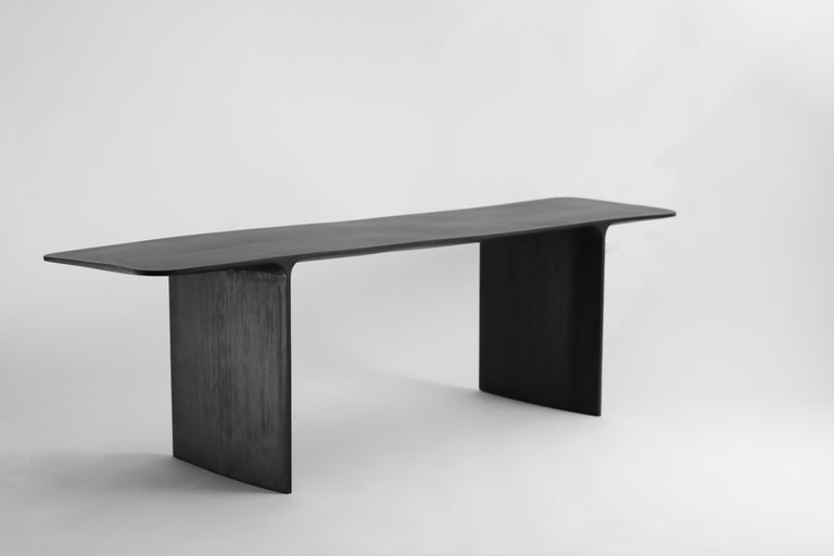 Shave Console Desk, Hand-Sculpted and Signed by Cedric Breisacher For Sale 11