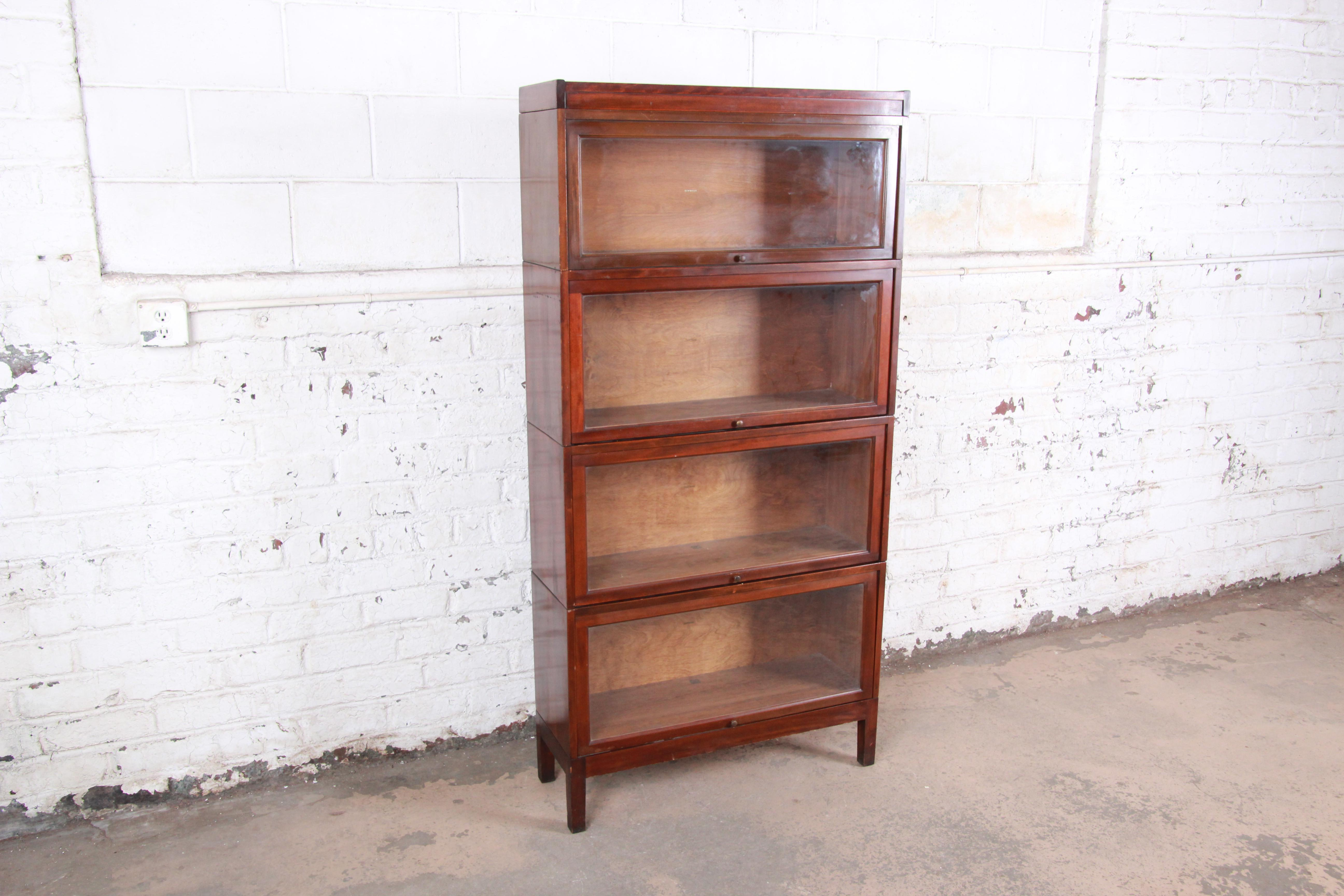 Shaw Walker Mid Century Four Stack Barrister Bookcase At 1stdibs