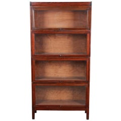 Shaw Walker Mid-Century Four-Stack Barrister Bookcase