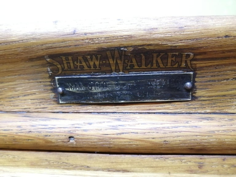 Shaw Walker Oak Stacking Cabinet with Drawers For Sale 1