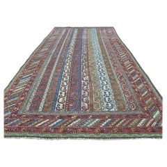 Shawl Design 1900 Antique Northwest Persian Wide Runner Rug