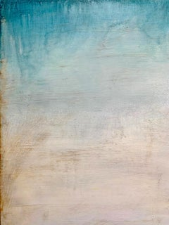 """""""Perception""""  Large light filled vertical minimal (water) abstraction blue/white"""
