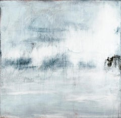 Shimmer: Abstract Light Blue and Pastel Robin's Egg Blue Landscape Painting