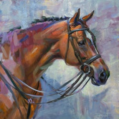 """Shawn Faust, """"Warm Blooded"""", 36x36 Equine Oil Painting on Canvas"""