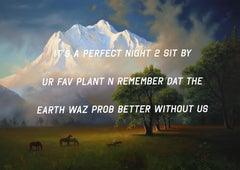 A Mountain Landscape: It's a Perfect Night to Sit By Your Favorite Plant and Rem
